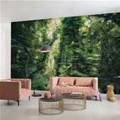 Papier peint jungle tropicale Green Leaves 450x280