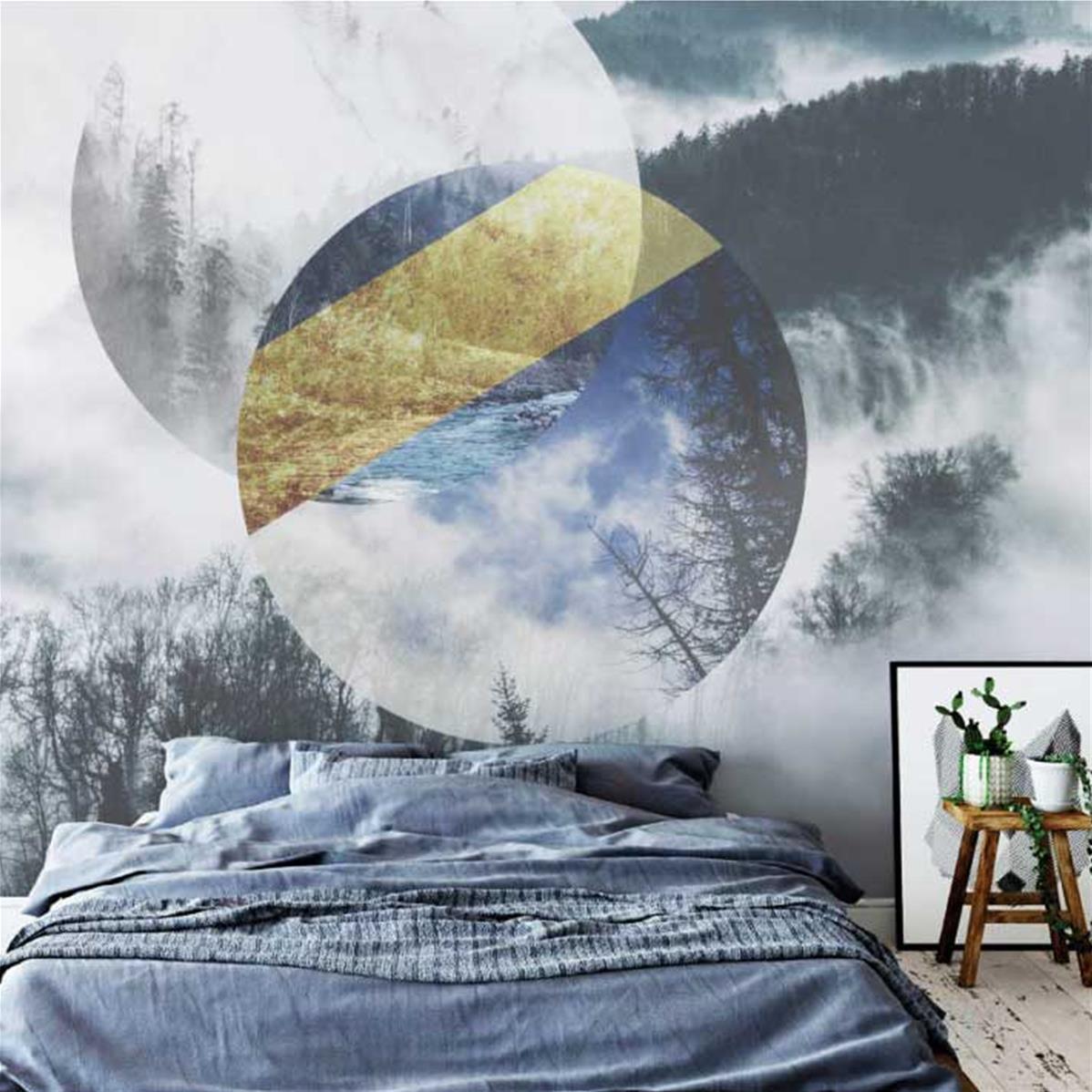 Papier peint haut de gamme chambre adulte tapisserie Chambre bebe haut de gamme