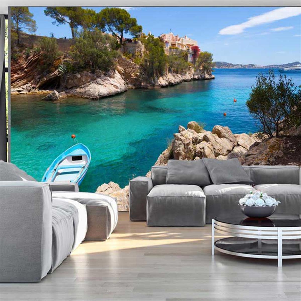 Papier peint panoramique paysage mer, papier peint xxl   Muraem