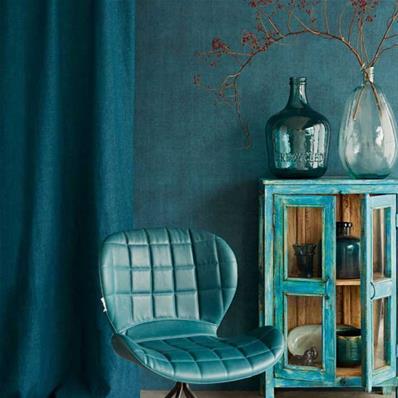 Papier Peint Intisse Bleu Vert Tapisserie Bleu Canard Deco Muraem