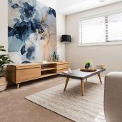 Papier peint design aspect marbre fleuri Marble and Flowers 192x270