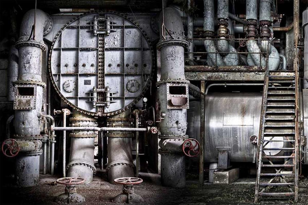 Papier peint machines industrielles, papier peint industriel   Muraem
