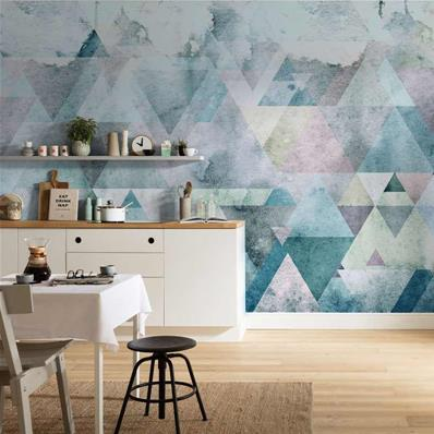 Papier peint scandinave Triangles blue 400x250