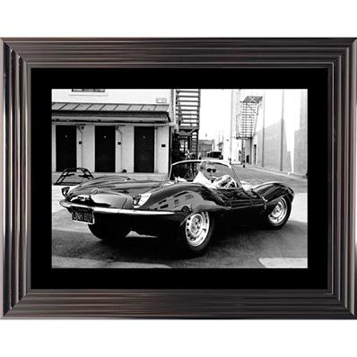 Tableau photo Steve Mc Queen cabriolet, 94x74