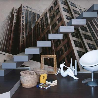 Papier peint design architecture 3D Boston