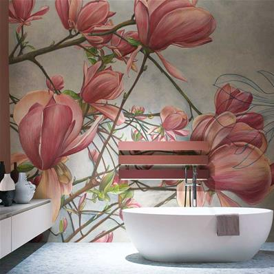 Tapisserie luxe design Magnolia in bloom