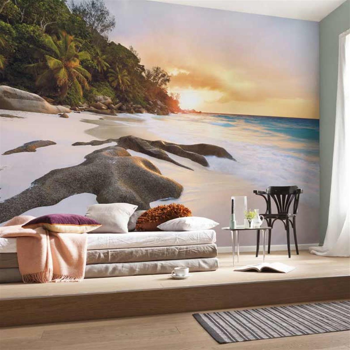Papier peint île paradisiaque, papier peint paysage naturel   Muraem