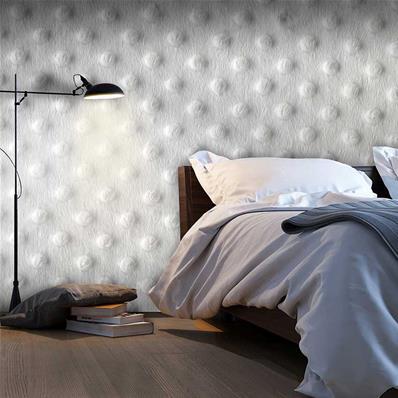 Papier peint blanc effet 3D, papier peint chambre blanc | Muraem