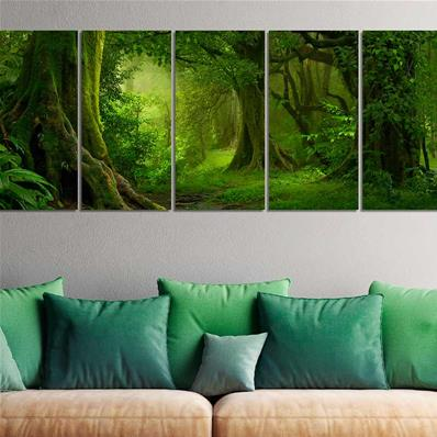 Grand tableau forêt verte Green Forest 200x80