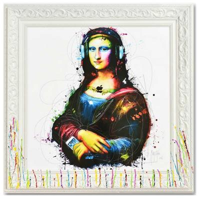 Murciano Mona lisa's song reproduction avec cadre, 90x90