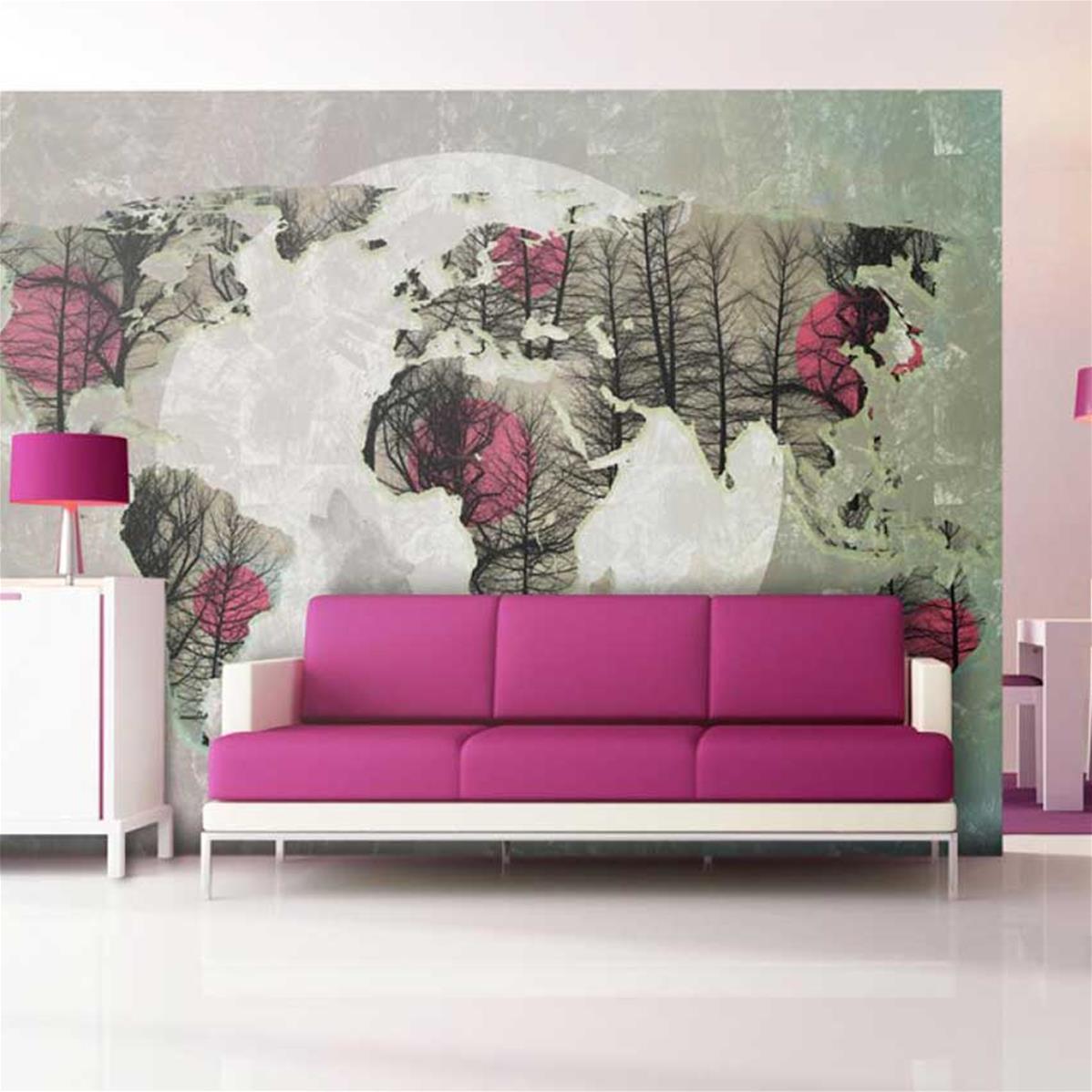 Papier peint panoramique chambre, papier peint chambre adulte   Muraem