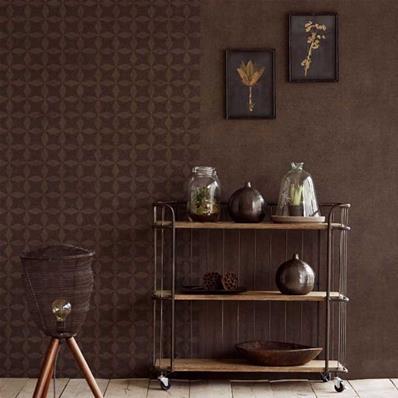 Papier peint marron chocolat, papier peint intissé marron | Muraem